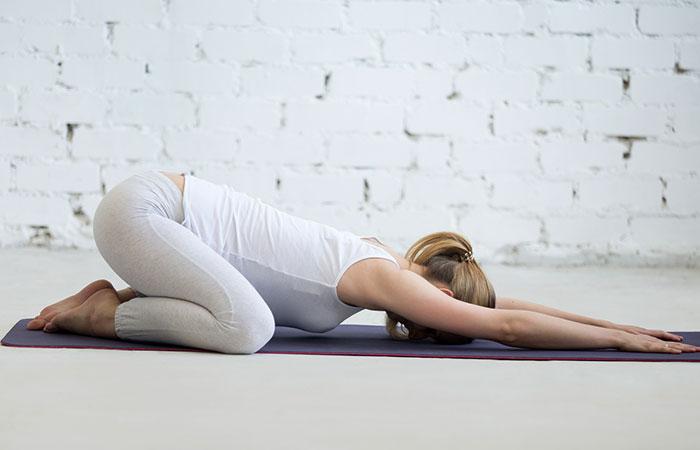 Balasana jóga az idegrendszer számára