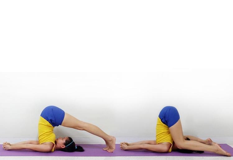 Ako urobiť tlak na uši tlaku (Karnapidasana) v joge